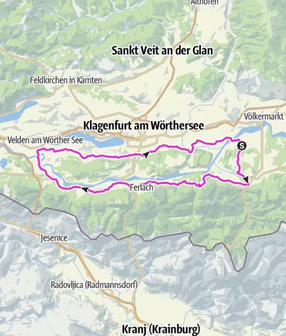 "Map / Rosegg-Tour  - through the nice valley ""Rosental"""