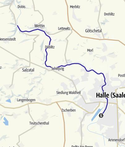 Halle Saale Karte.Saale Etappe 15 Am Blauen Band Von Halle Nach Kloschwitz