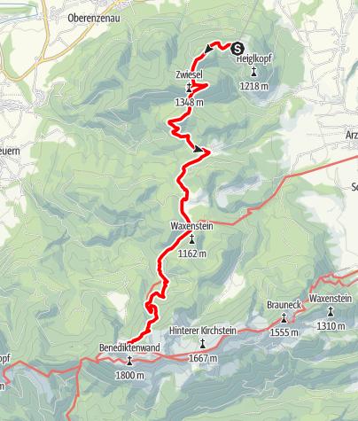 Karte / Vom Blomberg zur Tutzinger Hütte