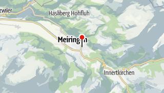 Karte / Veloferien Aare-Route Meiringen - Koblenz