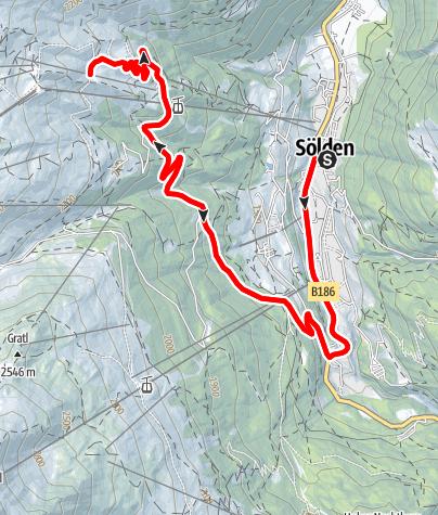 Karte / Rennradtour - Sölden - Hochsölden