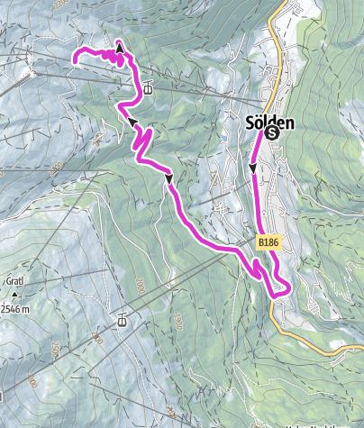 Map / Rennradtour - Sölden - Hochsölden