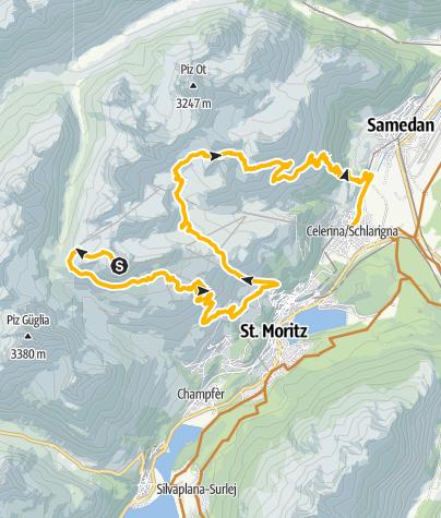 Karte / Corviglia Grand Tour