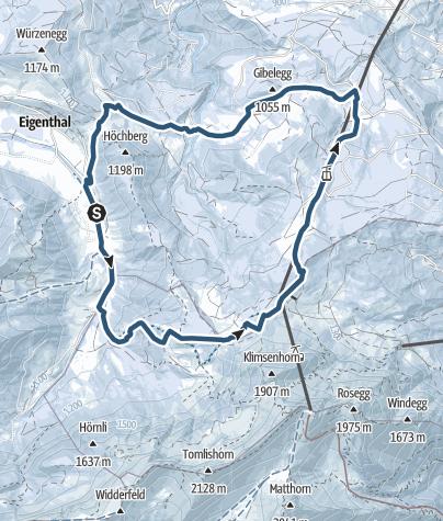 Map / Vom Eigenthal aus über die Fräkmüntegg und die Krienseregg