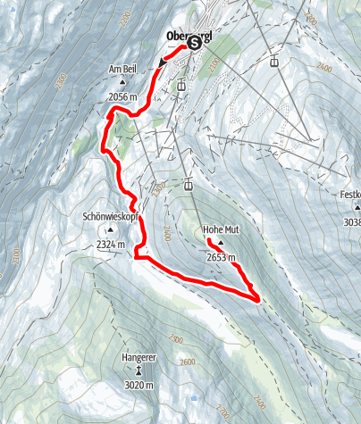 Map / Top Mountain Run 12,2 km