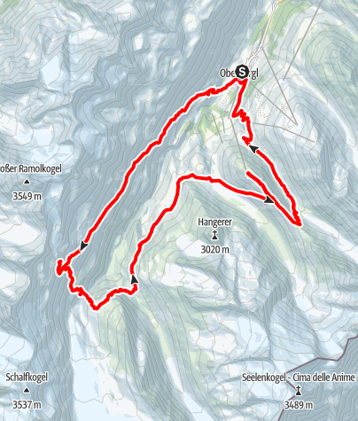 Map / Gletscher Trailrun 22 km