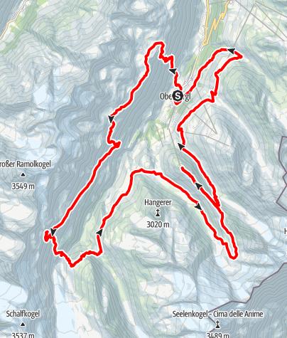 Karte / Gletscher Trailrun 42 km