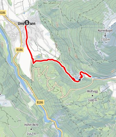 Karte / Stuiben Sprint 4km | 450Hm