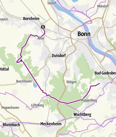 Karte / GA-Radtouren 2018 - Von wunderbaren Bäumen