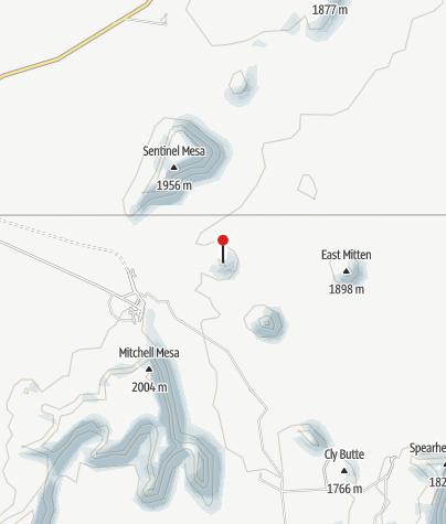 Map / West Mitten Butte