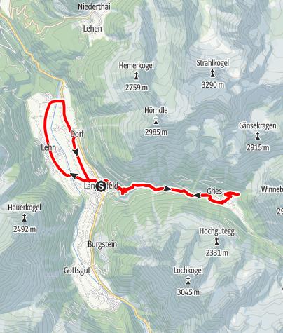 Karte / Rennradtour - Längenfeld - Gries/Winnebach