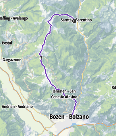Karte / Südtirol Sky Trail - Percorso corto