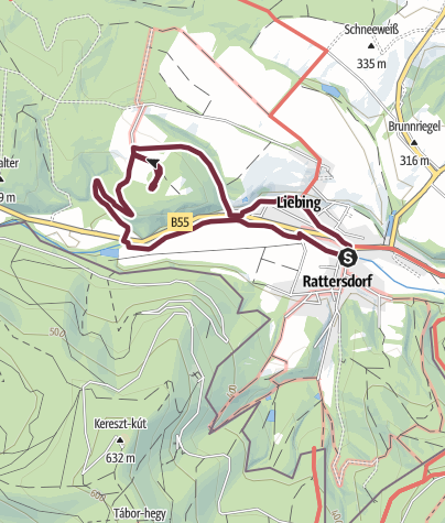 Karte / alpannonia Liebing Rund-Wanderung