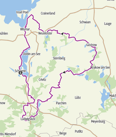 Map / Residenzstädte-Rundweg (Residential Cities Cycling Path)