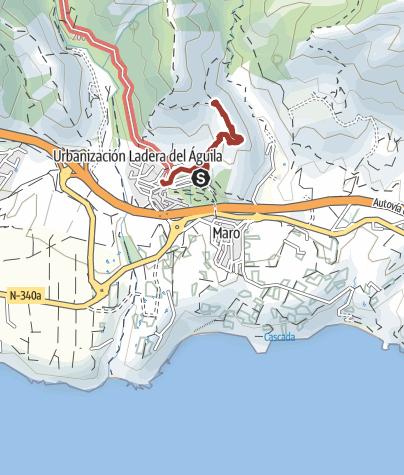 Mapa / Sendero Cueva de Nerja-Almijara