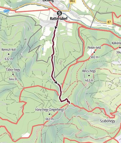 """Map / """"alpanonnia""""-Zubringer Rattersdorf - Köszeg"""