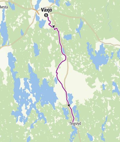 Map / Sydostleden: Växjö bis Tingsryd