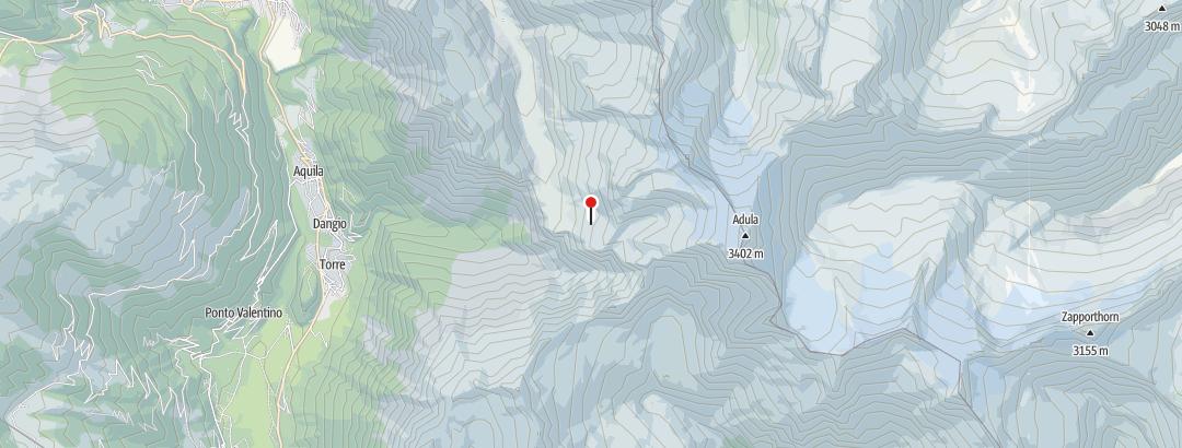 Mapa / Capanna Adula UTOE