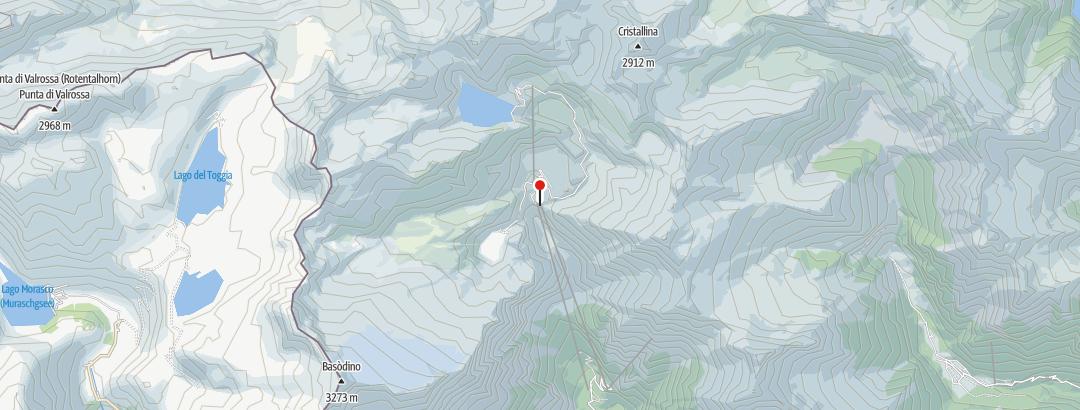 Mapa / Capanna Basodino (Robiei) CAS