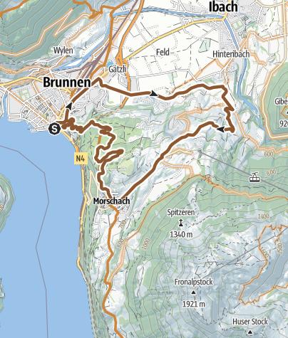 Karte / Schwyz, das Zuhause der Radsportlerin Andrea Waldis