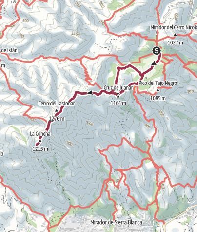 Mapa / Al mirador de La Concha