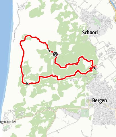 Karte / Noordholland: Flowtrail und mehr in den Schorlser Dünen