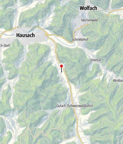 Karte / Rodelbahn Gutach - der Schwarzwaldbob