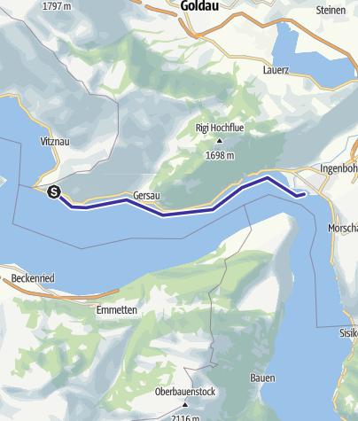 Karte / Rotschuo (Gersau) - Brunnen