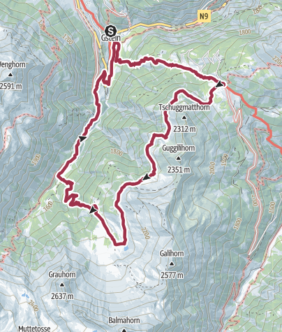 Map / Laggintal loop in the Simplon area