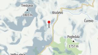 Map / Hiking in the oldest and largest national park in BiH - Sutjeska National Park