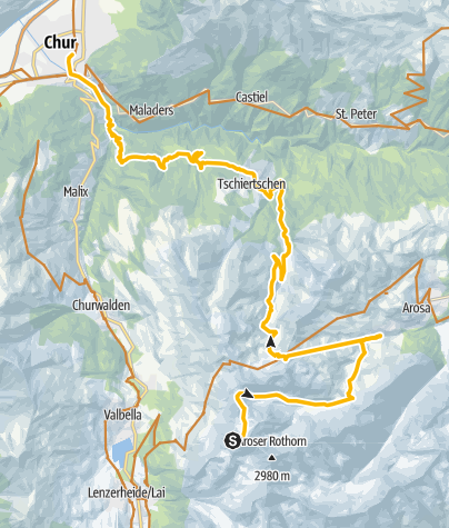 Karte / Rothorn-Chur