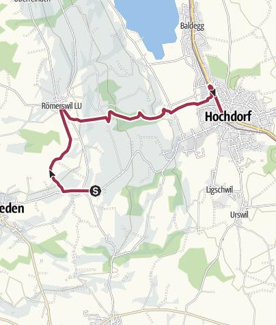 Karte / Forellenhof Ludiswil - Römerswil - Hochdorf