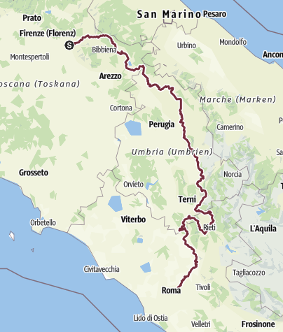Karte / Franziskusweg