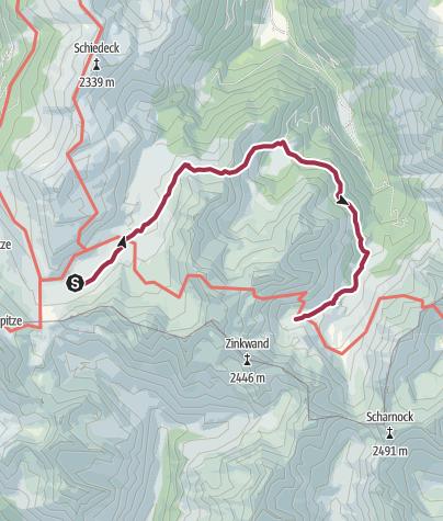 Map / Giglachseen Lakes to Keinprechthütte via Duisitzkar and Neualm