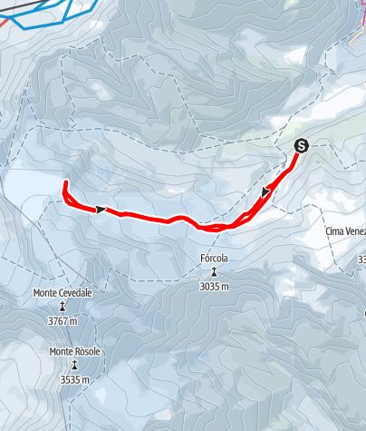 Karte / Skitour Drei Kanonen, 3276m ab Marteller Hütte