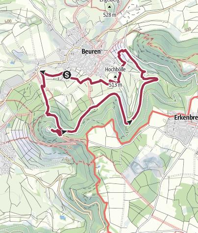 Karte / »hochgehfestigt« - Premiumwanderweg in Beuren