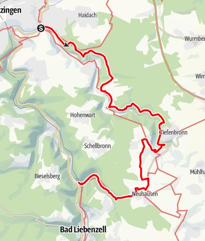 Map / Würmtal - Monbachtal - Nagoldtal