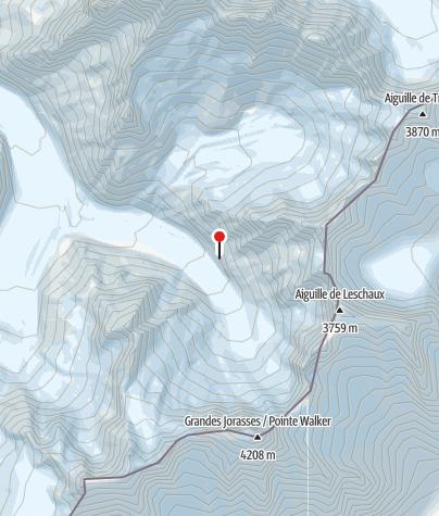 Karte / Refuge Leschaux, Mont-Blanc, FFCAM