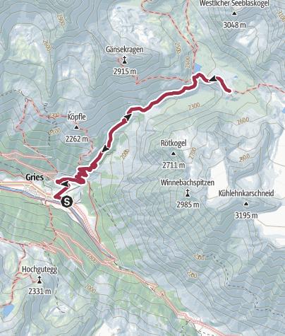 Map / Winnebachseehütte, 2362 m, und Ernst-Riml-Spitze, 2512 m