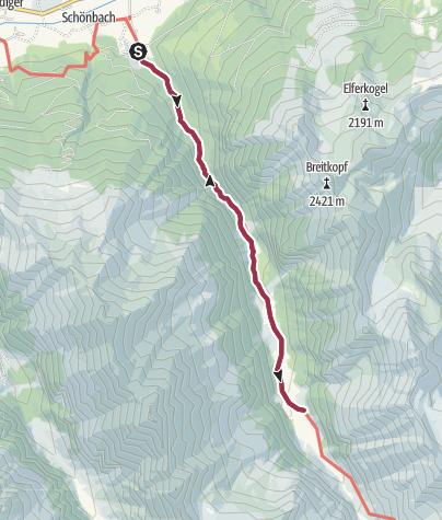 Map / Smaragdwanderweg Habachtal