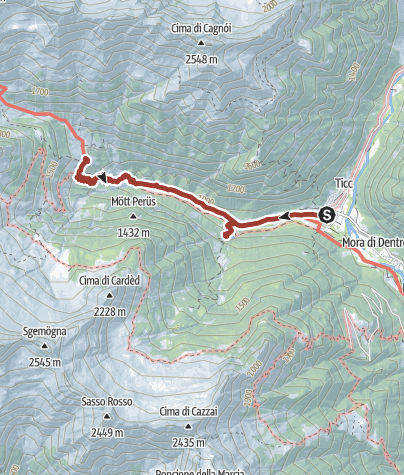 Cartina / I luoghi energetici della Valle Verzasca