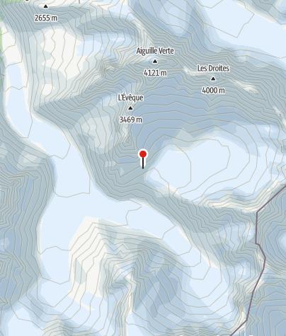 Karte / Refuge du Couvercle, Mont-Blanc, FFCAM