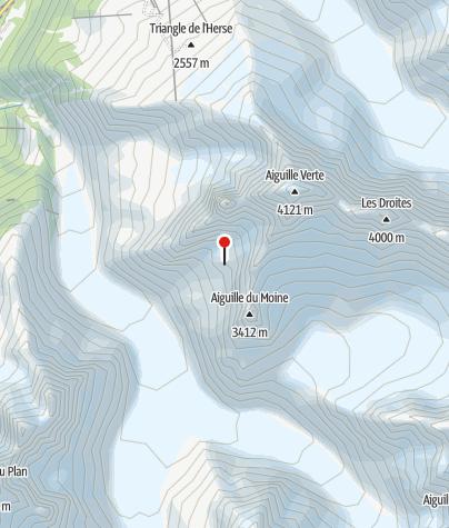Karte / Refuge de la Charpoua, Mont-Blanc, privat