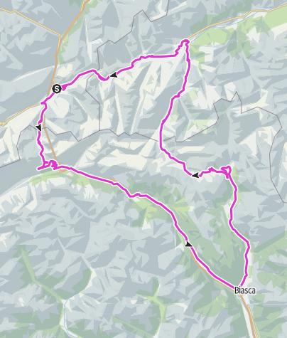 Karte / Gotthard-Lukmanier-Oberalp