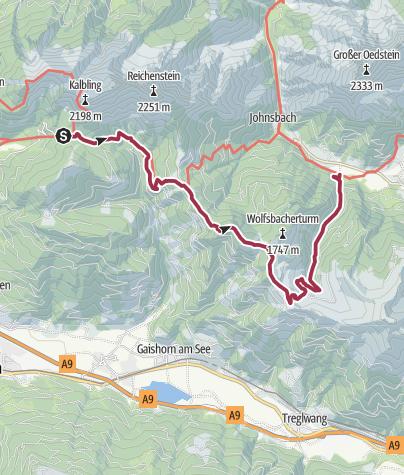 Karte / Luchs Trail Etappe 05 Klinkehütte-Johnsbach