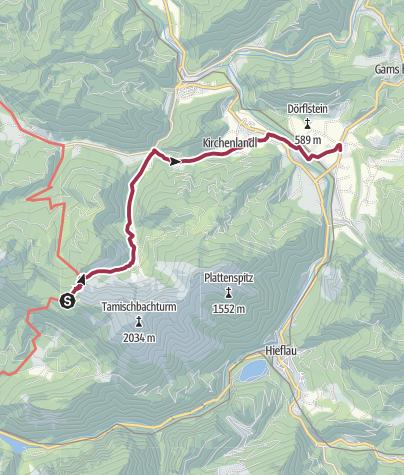 Karte / Luchs Trail Etappe 07 Gstatterboden-Mooslandl