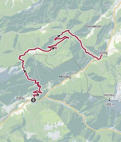 Map / Luchs Trail Etappe09 (Palfau-Lassing) Hauptroute