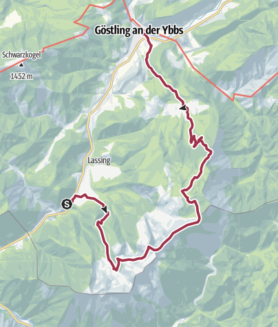 Karte / Luchs Trail Etappe 10 Lassing-Hochreit