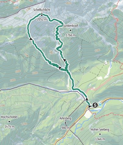 Map / Schellschlicht (2053m) Ammergau