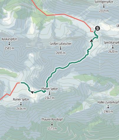 Map / Übergang Halleranger Haus zur Pfeishütte